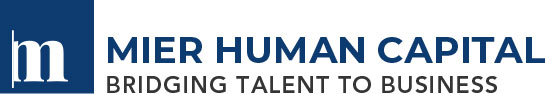 Image of the Mier Human Capital Logo in Navy Blue